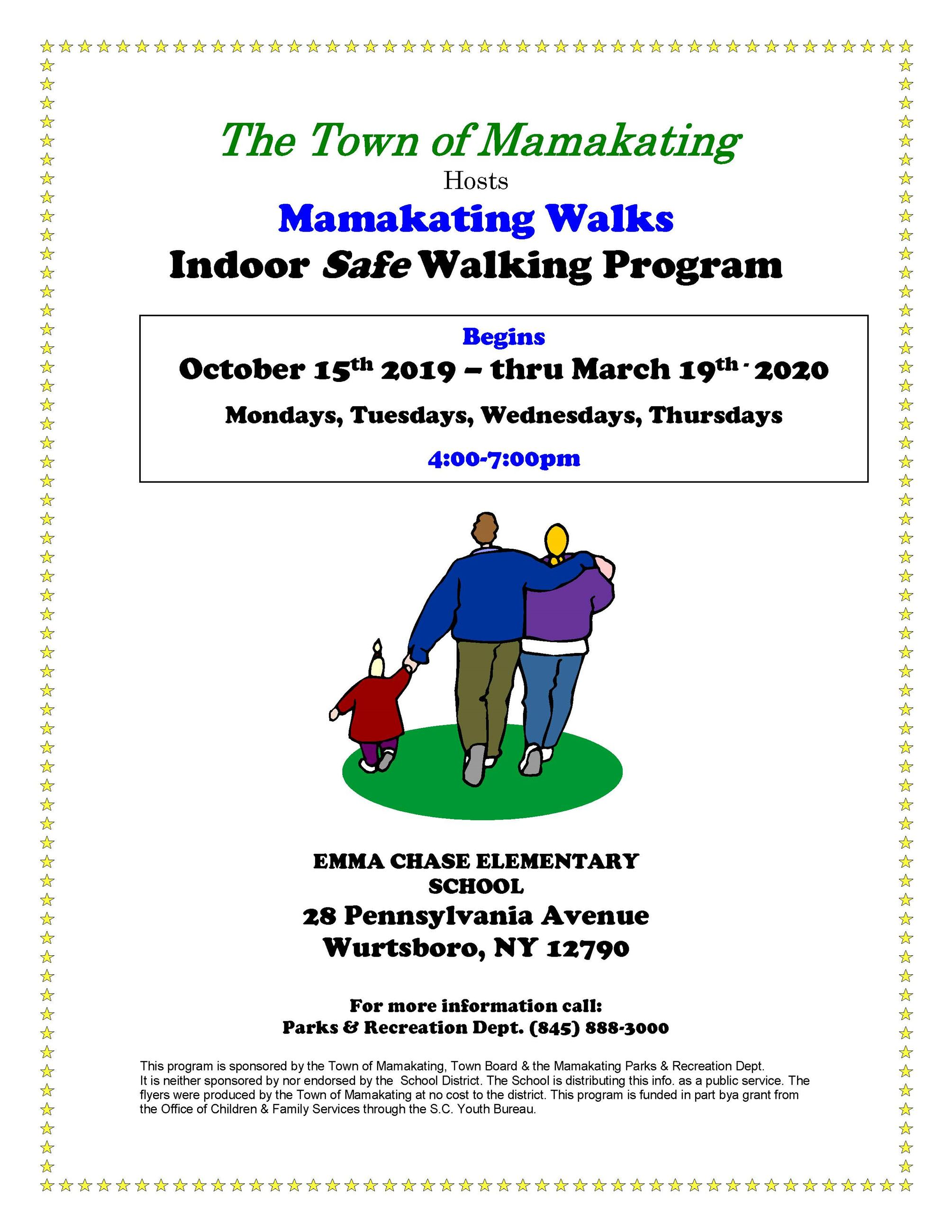 2019 Mamakating Walks Flyer