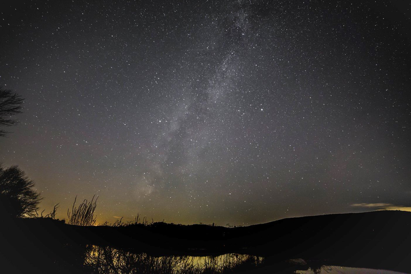 milky way over the bashakill