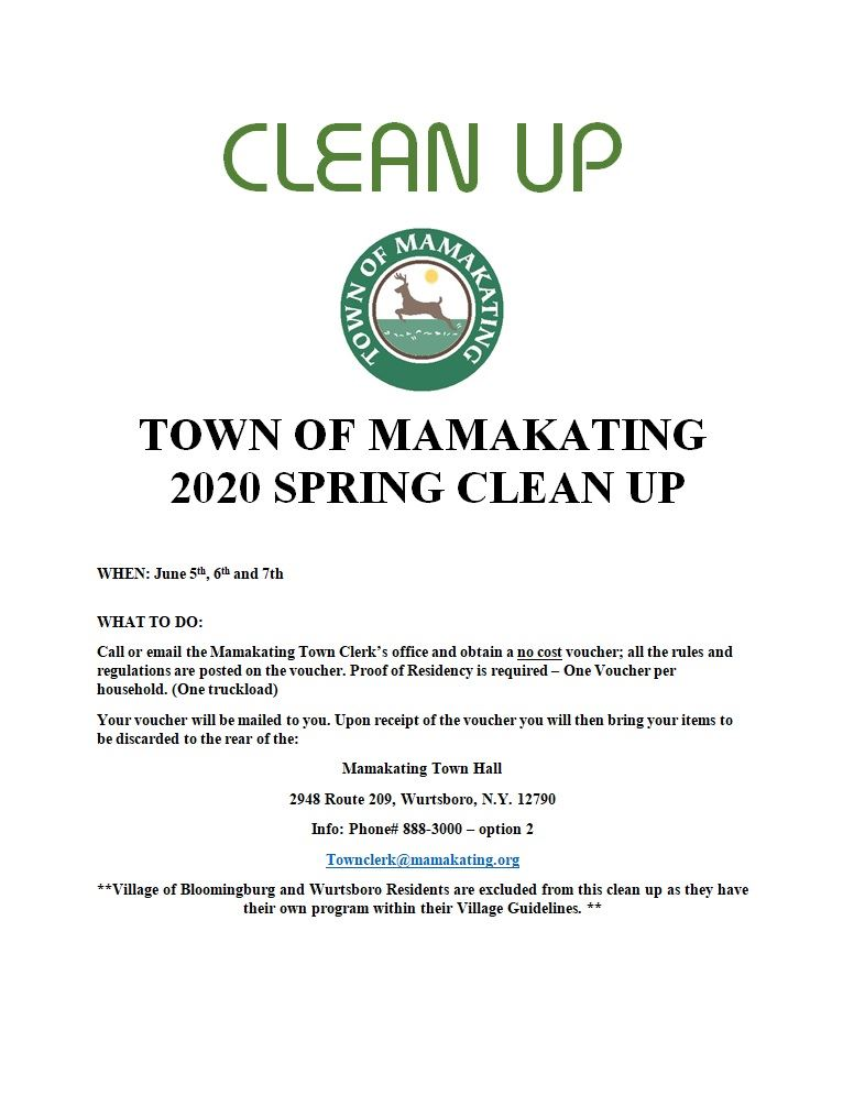 Spring 2020 Clean up